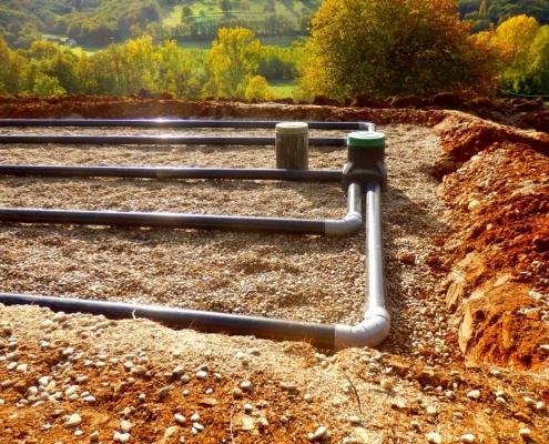 Réalisation d'une fosse septique avec épandage